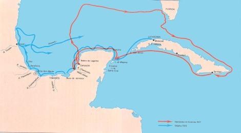 Esxpediciones del area mexicana1517-1518