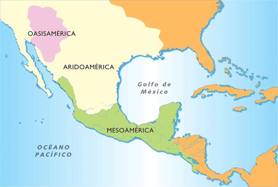 Mesoamérica, Oasisamérica y Aridoamérica