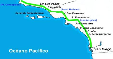 Primer trayecto por Alta California