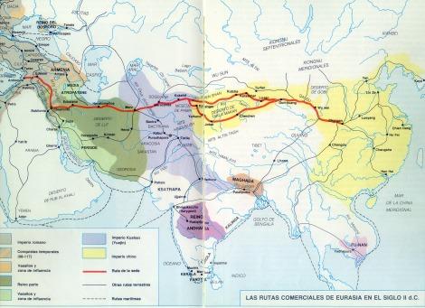 Ruta comerciales entre Oriente y Occidente
